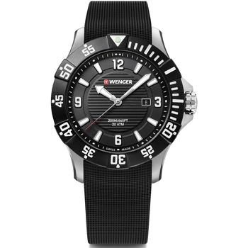 Relojes & Joyas Hombre Relojes analógicos Wenger 01.0641.132, Quartz, 43mm, 20ATM Plata