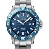 Relojes & Joyas Hombre Relojes analógicos Wenger 01.0641.133, Quartz, 43mm, 20ATM Plata