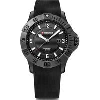 Relojes & Joyas Hombre Relojes analógicos Wenger 01.0641.134, Quartz, 43mm, 20ATM Negro