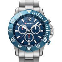 Relojes & Joyas Hombre Relojes analógicos Wenger 01.0643.119, Quartz, 43mm, 20ATM Plata