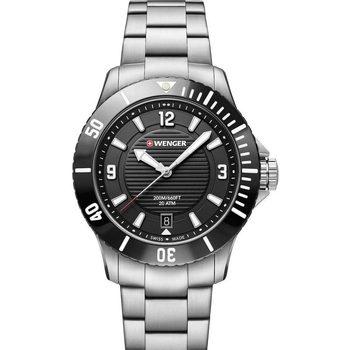 Relojes & Joyas Mujer Relojes analógicos Wenger 01.0621.109, Quartz, 36mm, 20ATM Plata