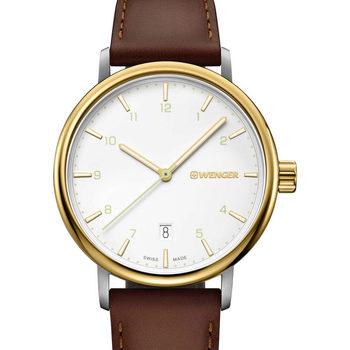 Relojes & Joyas Hombre Relojes analógicos Wenger 01.1731.118, Quartz, 40mm, 10ATM Oro