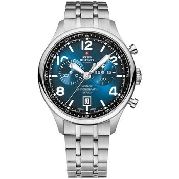 Relojes & Joyas Hombre Relojes analógicos Swiss Military By Chrono SM30192.03, Quartz, 42mm, 10ATM Plata