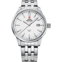 Relojes & Joyas Hombre Relojes analógicos Swiss Military By Chrono SMP36009.02, Quartz, 41mm, 5ATM Plata