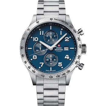 Relojes & Joyas Hombre Relojes analógicos Swiss Military By Chrono SM34084.02, Quartz, 42mm, 10ATM Plata