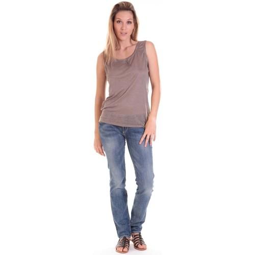 textil Mujer Camisetas sin mangas Sud Express DEBARDEUR DOTESSE BRONZE Oro