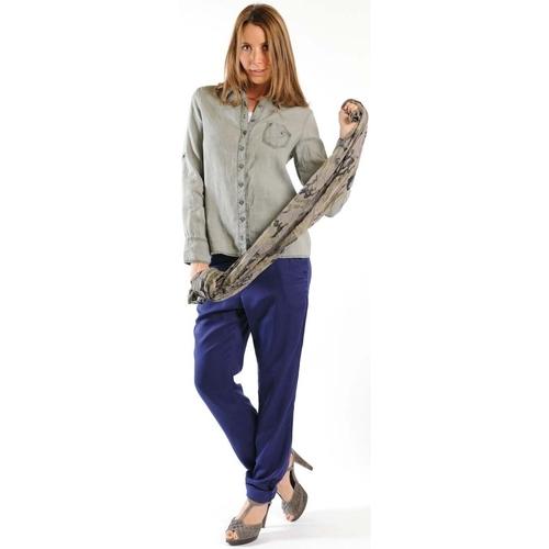 textil Mujer Camisas manga larga Sud Express CHEMISE CATI BRONZE Oro