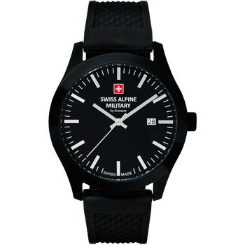 Relojes & Joyas Hombre Relojes analógicos Swiss Alpine Military 7055.1877, Quartz, 43mm, 10ATM Negro