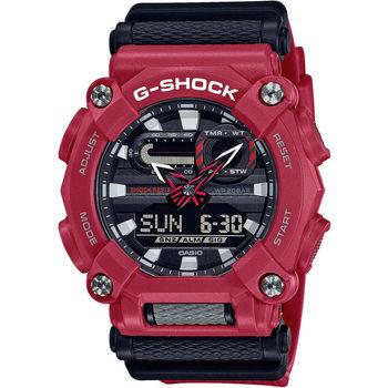 Relojes & Joyas Hombre Relojes mixtos analógico-digital Casio GA-900-4AER, Quartz, 49mm, 20ATM Rojo