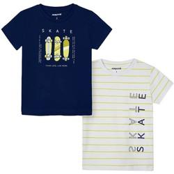 textil Niño Camisetas manga corta Mayoral Set 2 camiseta m/c skate Azul