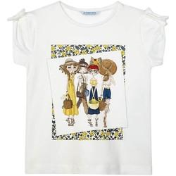textil Niña Camisetas manga corta Mayoral Camiseta m/c grupo Blanco