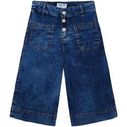 textil Niña Pantalones Mayoral Pantalon culotte bolsillos Azul