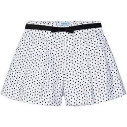 textil Niña Shorts / Bermudas Mayoral Pantalon corto topos Blanco