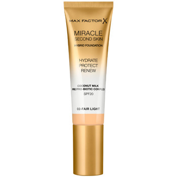 Belleza Mujer Base de maquillaje Max Factor Miracle Touch Second Skin Found.spf20 2-fair Light