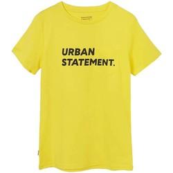 textil Niño Camisetas manga corta Mayoral Camiseta m/c bolsillo amarillo