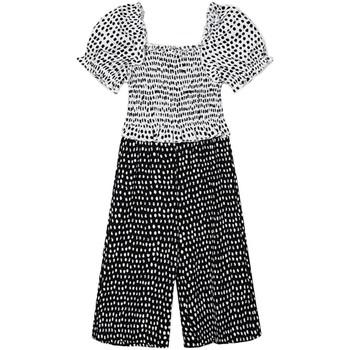 textil Niña Monos / Petos Mayoral Mono combinado topos Negro
