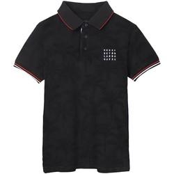 textil Niño Polos manga corta Mayoral Polo m/c estampado Negro