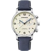 Relojes & Joyas Hombre Relojes analógicos Wenger 01.1743.119, Quartz, 44mm, 10ATM Plata