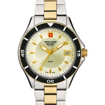 Relojes & Joyas Mujer Relojes analógicos Swiss Alpine Military 77.401.142, Quartz, 36mm, 10ATM Plata