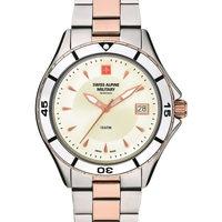 Relojes & Joyas Mujer Relojes analógicos Swiss Alpine Military 7740.1152, Quartz, 36mm, 10ATM Plata