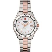 Relojes & Joyas Mujer Relojes analógicos Swiss Alpine Military 7740.1153, Quartz, 36mm, 10ATM Plata