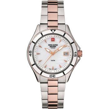 Relojes & Joyas Mujer Relojes analógicos Swiss Alpine Military 77.401.153, Quartz, 36mm, 10ATM Plata