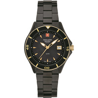 Relojes & Joyas Mujer Relojes analógicos Swiss Alpine Military 7740.1184, Quartz, 36mm, 10ATM Negro