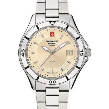 Relojes & Joyas Mujer Relojes analógicos Swiss Alpine Military 77.401.138, Quartz, 36mm, 10ATM Plata