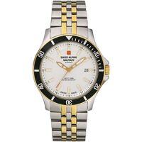 Relojes & Joyas Hombre Relojes analógicos Swiss Alpine Military 7022.1142, Quartz, 42mm, 10ATM Plata