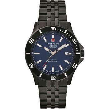 Relojes & Joyas Hombre Relojes analógicos Swiss Alpine Military 7022.1175, Quartz, 42mm, 10ATM Negro