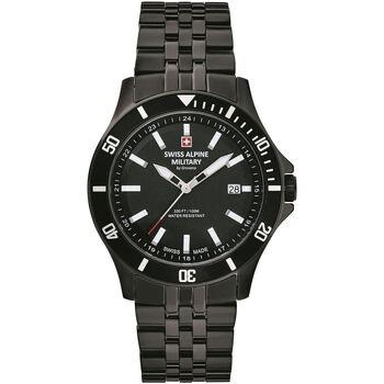 Relojes & Joyas Hombre Relojes analógicos Swiss Alpine Military 7022.1177, Quartz, 42mm, 10ATM Negro