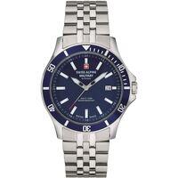 Relojes & Joyas Hombre Relojes analógicos Swiss Alpine Military 70.221.135, Quartz, 42mm, 10ATM Plata