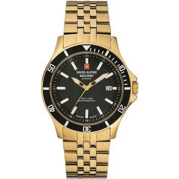 Relojes & Joyas Hombre Relojes analógicos Swiss Alpine Military 7022.1117, Quartz, 42mm, 10ATM Oro