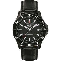 Relojes & Joyas Hombre Relojes analógicos Swiss Alpine Military 7022.1577, Quartz, 42mm, 10ATM Negro