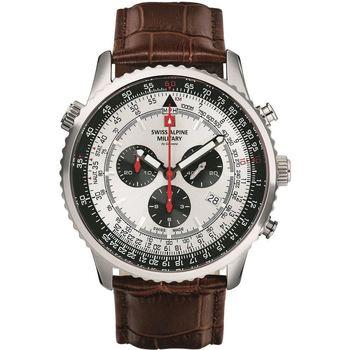 Relojes & Joyas Hombre Relojes analógicos Swiss Alpine Military 7078.9532, Quartz, 46mm, 10ATM Plata