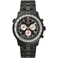 Relojes & Joyas Hombre Relojes analógicos Swiss Alpine Military 7078.9177, Quartz, 46mm, 10ATM Negro