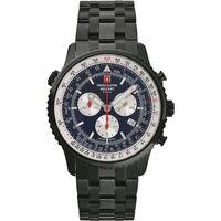 Relojes & Joyas Hombre Relojes analógicos Swiss Alpine Military 7078.9175, Quartz, 46mm, 10ATM Negro