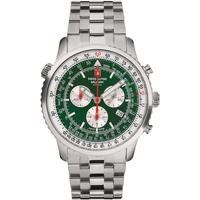 Relojes & Joyas Hombre Relojes analógicos Swiss Alpine Military 7078.9134, Quartz, 46mm, 10ATM Plata