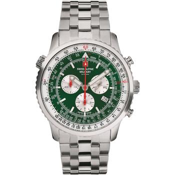 Relojes & Joyas Hombre Relojes analógicos Swiss Alpine Military 70.789.134, Quartz, 46mm, 10ATM Plata