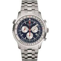 Relojes & Joyas Hombre Relojes analógicos Swiss Alpine Military 7078.9135, Quartz, 46mm, 10ATM Plata