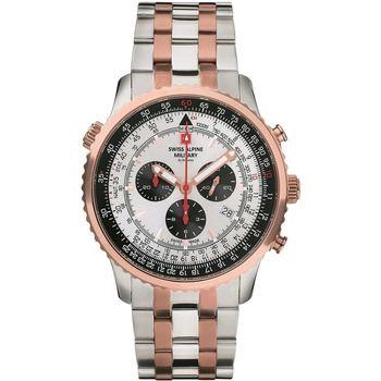 Relojes & Joyas Hombre Relojes analógicos Swiss Alpine Military 7078.9152, Quartz, 46mm, 10ATM Oro