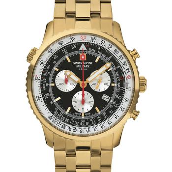 Relojes & Joyas Hombre Relojes analógicos Swiss Alpine Military 7078.9117, Quartz, 46mm, 10ATM Oro