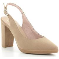 Zapatos Mujer Zapatos de tacón Oskarbi 1557 Arena Beige