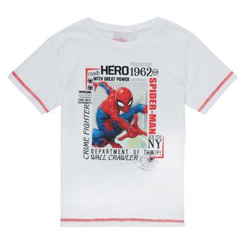 textil Niño Camisetas manga corta TEAM HEROES  SPIDERMAN TEE Blanco