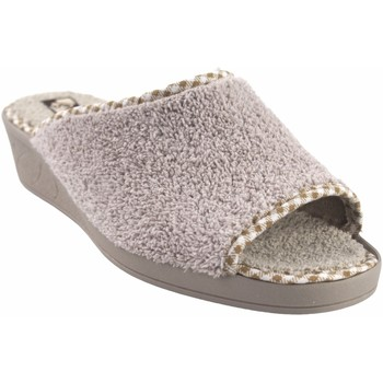 Zapatos Mujer Pantuflas Andinas Ir por casa señora  9162-26 beig Blanco