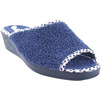 Zapatos Mujer Pantuflas Andinas Ir por casa señora  9162-26 azul Azul