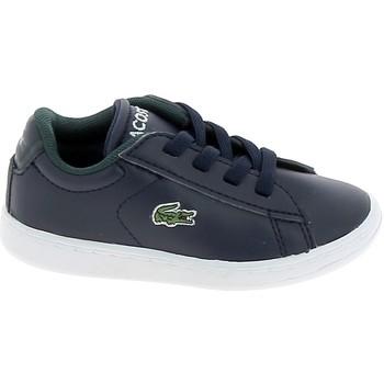 Zapatos Zapatillas bajas Lacoste Carnaby BB Marine Blanc Azul