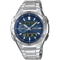 Relojes & Joyas Hombre Relojes mixtos analógico-digital Casio WVA-M650D-2AER, Quartz, 44mm, 10ATM Plata