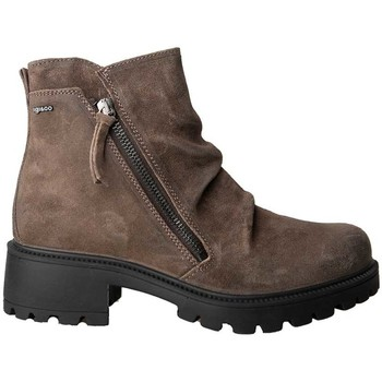 Zapatos Hombre Botas de caña baja Imac BOTIN PIEL INVIERNO PARA NIEVE TAUPE Marrón