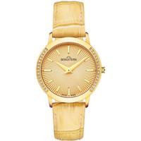 Relojes & Joyas Mujer Relojes analógicos Bergstern B033L163, Quartz, 31mm, 5ATM Oro